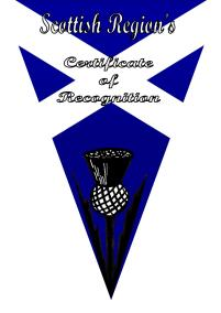 Scottish region Award b